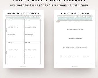 diet log sheets