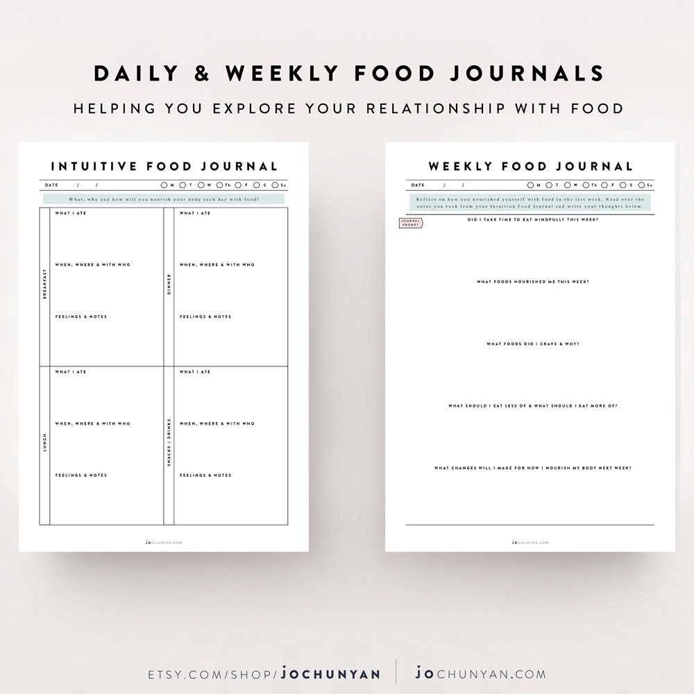 food tracker template