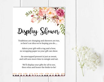 Blue Cream Floral Printable Wedding Invitation Suite Boho
