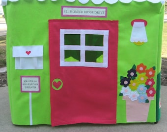 Card Table Playhouse, Lime Double Delight Custom Order, Personalized