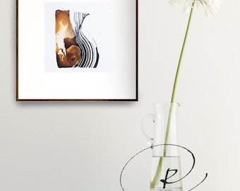 Abstract art, abstract, minimalist art, original abstract art, nature abstract, abstract  ink drawing,  ink art, abstract painting, movement