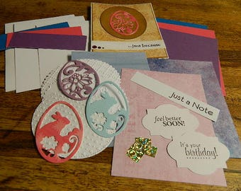 Card Kit, Spring, Easter, die cuts, embellishments, sentiments,