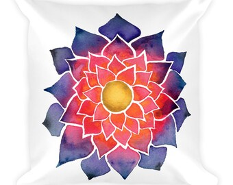 Watercolor Flower Pillow