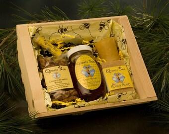 Beehive honey gift basket by Queen bee honey in Massachusetts