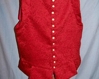 Doublet Custom No Sleeves SCA Renaissance Faire ECW Pirate Elizabethan Velvet Brocade Wool Linen