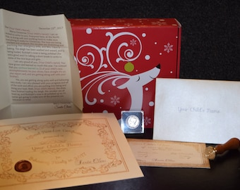 Personalized Letter From Santa, Authentic Looking Nice List Certificate, Santa Package, 2017 Half Dollar, Nice List
