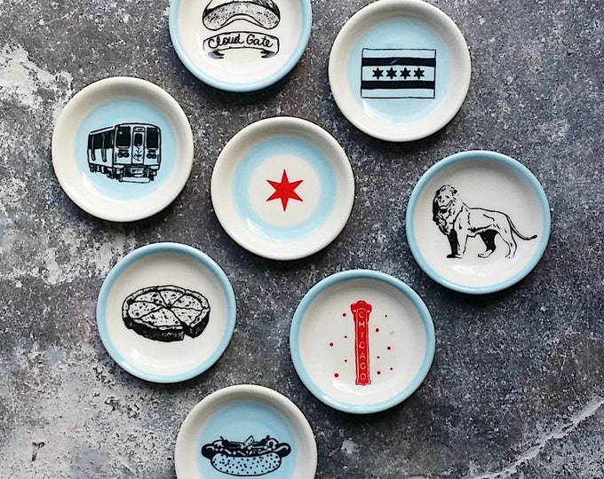 Featured listing image: NEW. The Littlest Dish. Palm sized dishes for a myriad of things. Jewelry-Treats-Candles-Sauces-A Pinch of Salt- Chicago Icons