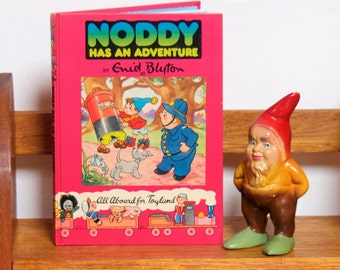 "Vintage Mid Century Hardcover Children's Book - ""Noddy Has An Adventure"" - Noddy Book No. 17"