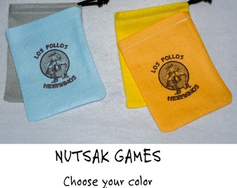Los Pollos Hermanos - Choose your color Premium Felt Drawstring Bag for Dice, Tokens and Stash.