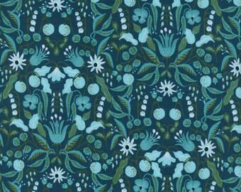 Freja - Turquoise - Amalfi - Rifle Paper Co. - Cotton and Steel Fabrics - Fabric By The Half Yard