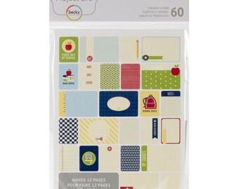 School Project Life kaarten thema kaarten, 60/Pkg, School Pocket Scrapbook kaarten