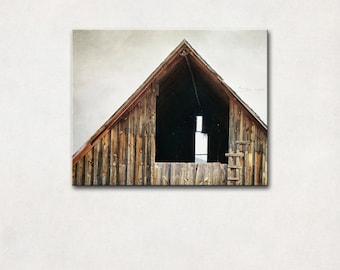 Barn Photography, Canvas Art, Farmhouse Decor, Rustic Wall Art