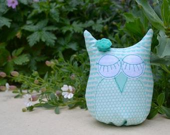 Owlie small freestanding fabric stuffed owl