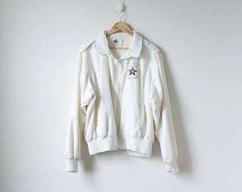 """90s """"Fraternal Order of Police"""" Windbreaker - 90s Windbreaker White Windbreaker Vintage Police Clothing - Vintage Windbreaker - Men's XL"""