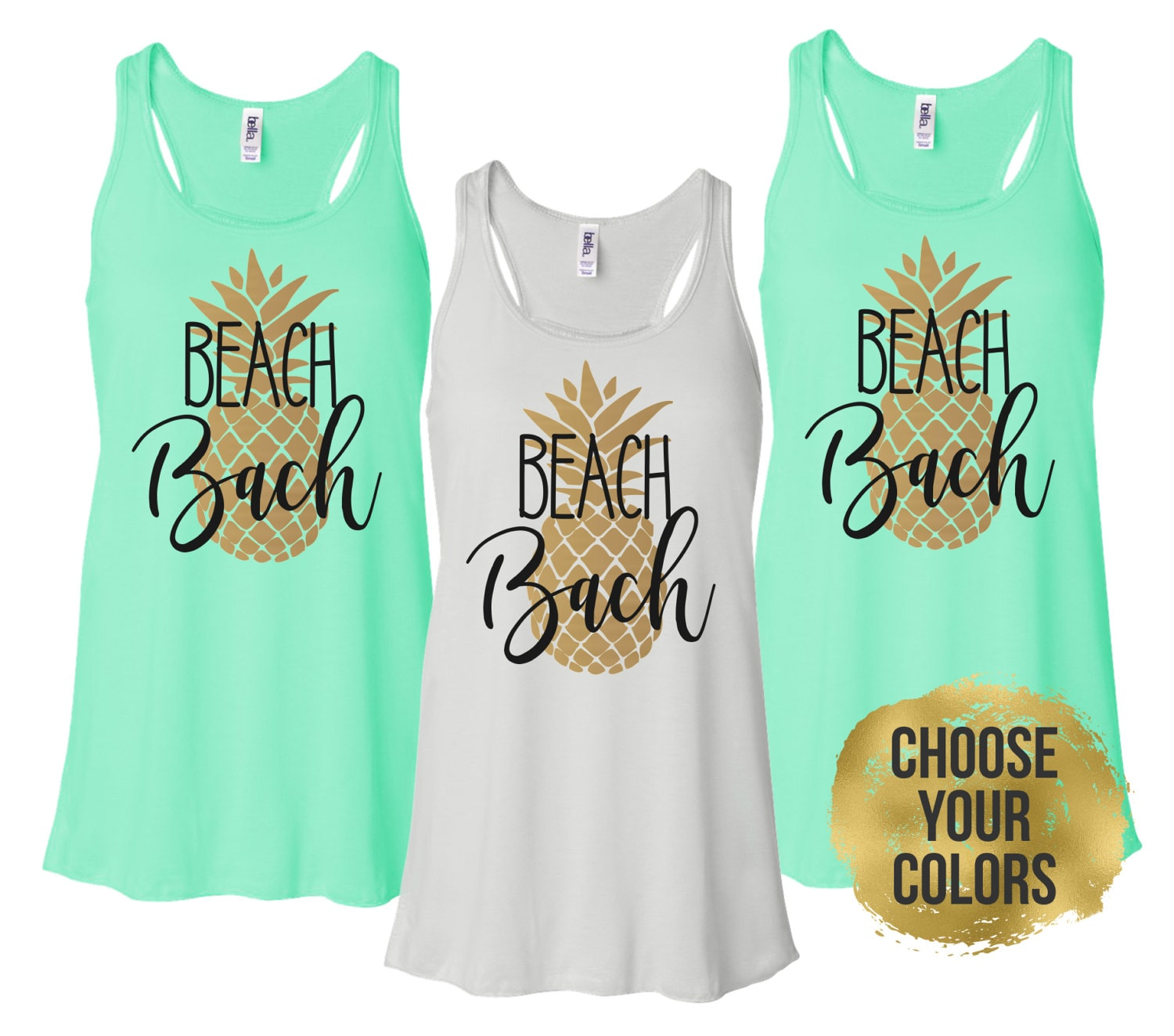 Beach Bachelorette Tanks Pineapple Party Shirts