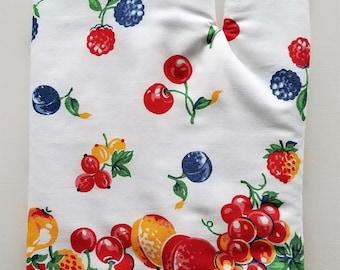 Oven Mitt, Kitchen Oven Mitt, Fruit Print, Chef, Cook, Baker, Veggie, Produce, Vintage, hot pad, pot holder
