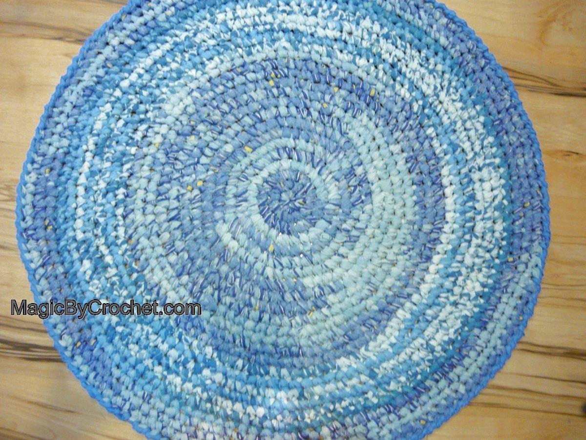 Lappen Sie Teppich blauen Teppich handgefertigten Teppich