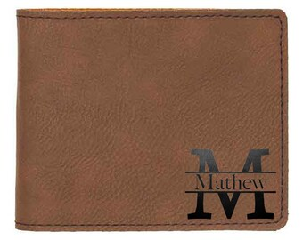 Personalized Wallet, Custom Mens Wallet, minimalist wallet, wallet men, Vegan Wallet, leather wallet, groomsmen gift