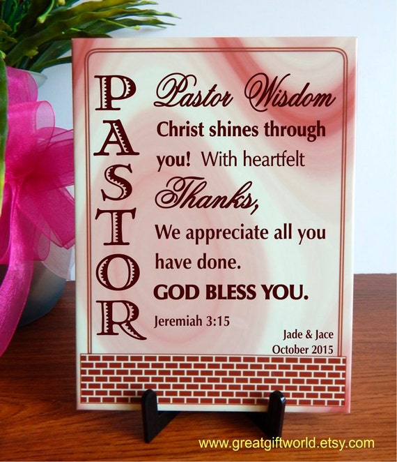 Pastoral anniversary gift gifts for pastor personalized from stopboris Choice Image