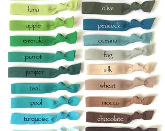 NEW Five Elastic Hair Ties - Your Choice Of 70 Colors