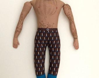 Tattooed Man with Beard Doll Hot-Air Balloon tattoos plush