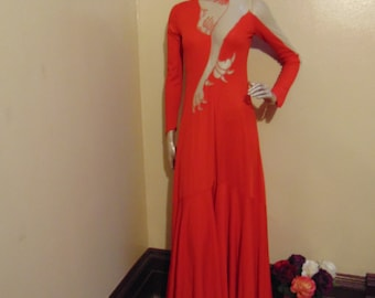 Long Red Lion Dress
