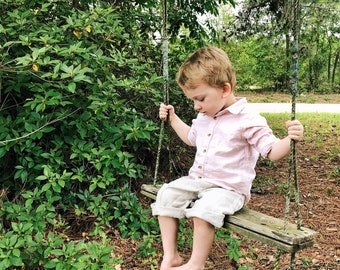 Clam Diggers | Linen Britches | Washed Linen Britches | Handmade Clothing | Little Boy Pants | Ring Bearer | Ellie Ann and Lucy