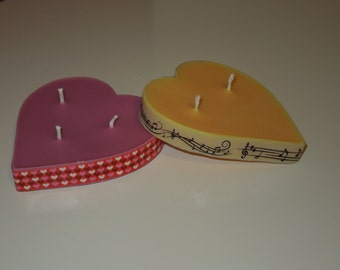 Large Heart Shaped Candles
