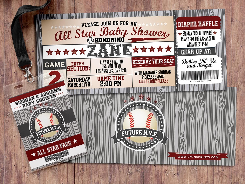 Vintage Baseball Shower Invitation // All Star Little Slugger Baby ...