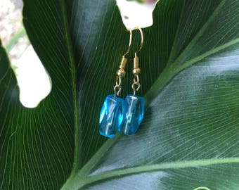 Aqua Marine color Drop Earrings March birthday gifts Mother's Day gifts for her Dainty earrings Teen earrings Affordable blue earrings