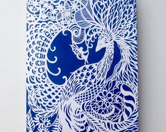 Dream Bird - A5 Notebook - Diary - Jotter - Blank pages - Bird sketchbook