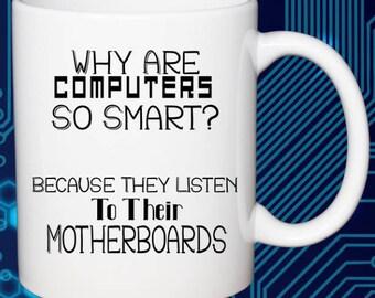 Great Office Coffee Mug Computers and Motherboards Geek Dad