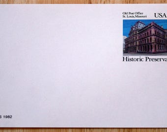 6 Mint USPS Stamped Postcards--Scott #UX97--Historic Preservationl--Old Post Office, St. Louis, Missouri--13c--1982--Shipping Included