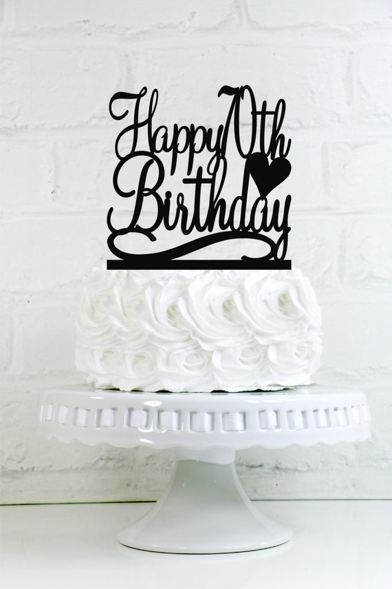 Happy 70th Birthday Cake Topper or Sign