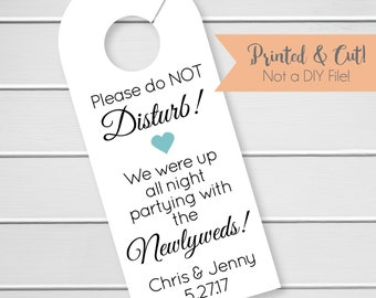 Wedding Door Hanger, Custom Hotel Door Hangers, Destination Wedding Welcome Bag  (DH-056)