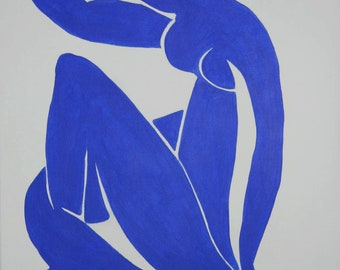 "Original acrylic painting after Matisse ""The Blue Nude, 60 x 80 cm"