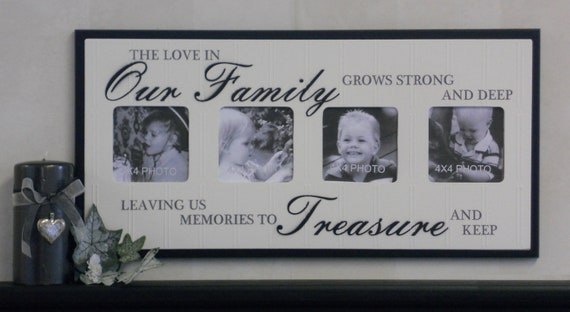 Unique Family Gift - Photo Frame Brown or Black Sign - The love in ...