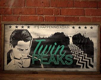 Twin Peaks Lobby Board. Hand Painted. Original Design.