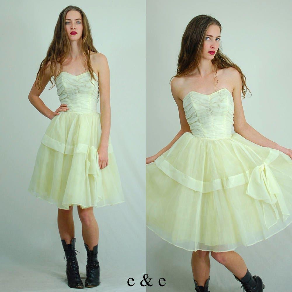Vintage Prom Dress / 60s Prom Dress / 60s Party Dress /
