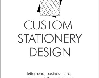 Custom Stationery Design Letterhead, Business Card, Envelope and Thank You Card Basic Design Package