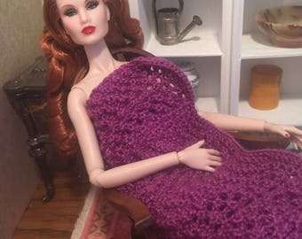 1:6 Scale Afghan for Barbie, Fashion Royalty, Momoko, etc