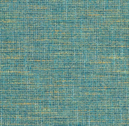 Teal Tweed Upholstery Fabric - Modern Woven Blue Gold Fabric for ...
