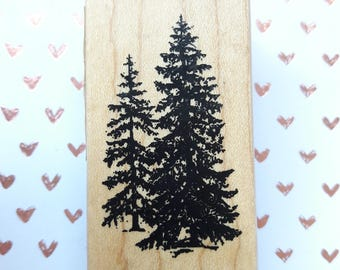 Pine Tree Wood Mounted Rubber Stamp By Inkadinkado Scrapbooking & Paper Craft Supplies