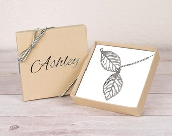 Tree Leaf Necklace, Personalize Gift,Tree Leaf Pendant, Y Necklace, Leaf Necklaces, Hollow Leaf Necklace, Fallen Leaf Necklace, Gift for Her