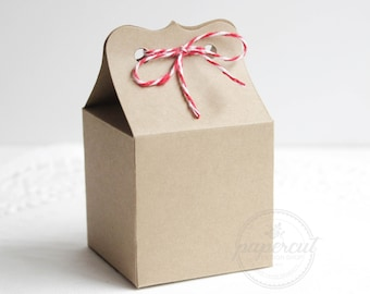 Brown Kraft Cardstock Small Box Square Favor Boxes, Wedding Favors, Party Favors, Treat Boxes, Dessert Boxes, Gift Boxes