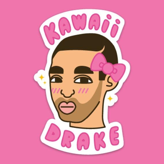 Kawaii drake sticker rapper singers rap champagnepapi drake accessories drake sticker drake hat drake shirt drake