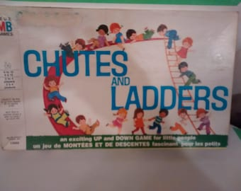Vintage Chutes and Ladders, Milton Bradley, No Reading Necessary 1972 ,Complete
