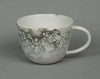 Bubble glazed mug- Handmade stoneware ceramics