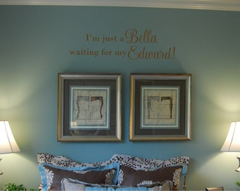 Twilight Inspired Bella waiting for Edward - Vinyl Wall Decal