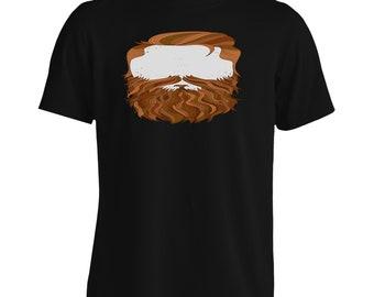 Secret Men with the Ginger Beard and Mustache Men's T-Shirt m2m